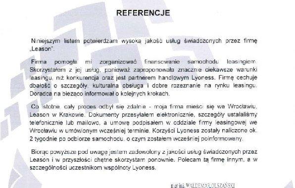 List Referencyjny – Destroy
